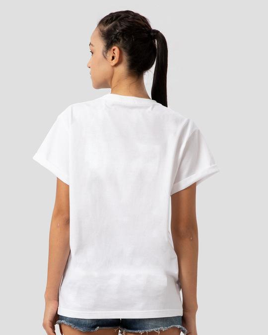 Shop Rock N Roll Thunder Boyfriend T-Shirt-Back