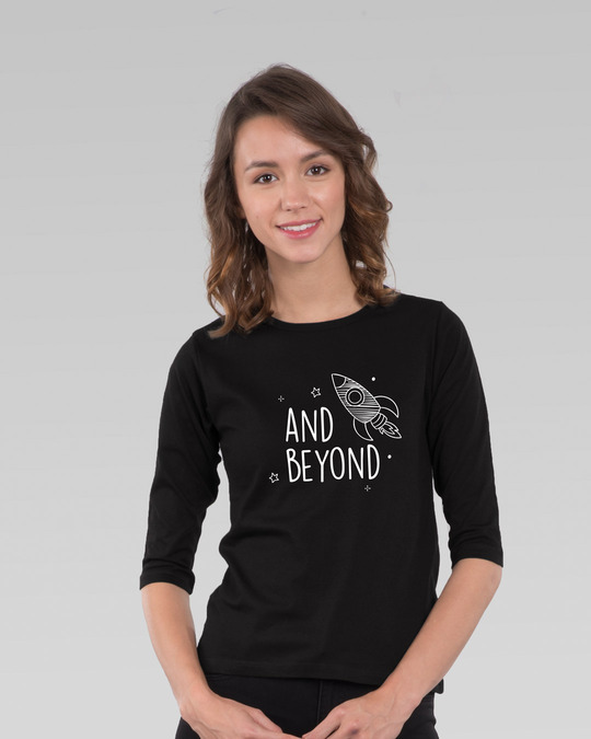 Shop Rocket Beyond Round Neck 3/4th Sleeve T-Shirt-Front