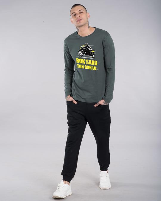 Shop Rok Sako Toh Rok Lo Bike Full Sleeve T-Shirt-Design