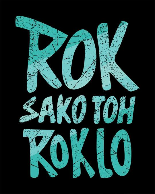 Shop Rok Sako Toh Rok Lo Round Neck 3/4th Sleeve T-Shirt