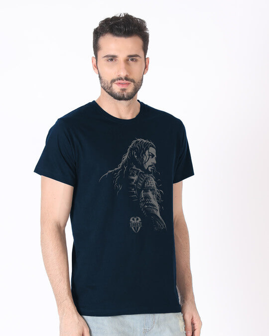 Shop Roman Half Sleeve T-Shirt (WWEL)-Full