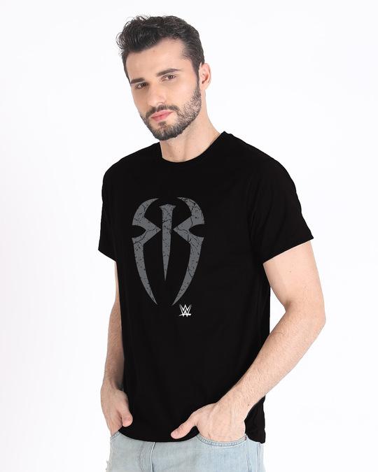 Shop Roman Logo Half Sleeve T-Shirt (WWEL)-Design