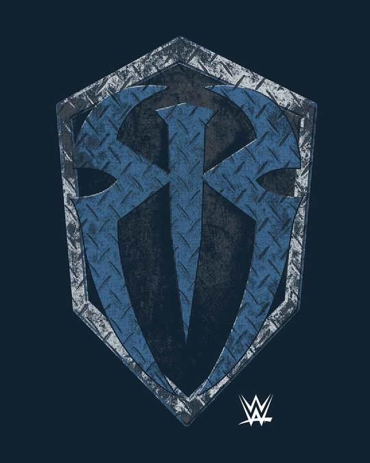 Shop Roman Rigns Shield Half Sleeve T-Shirt (WWEL)