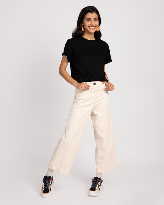 Shop Rose And White Side Panel Boyfriend T-Shirt