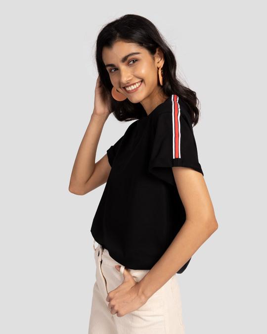 Shop Rose And White Side Panel Boyfriend T-Shirt-Back