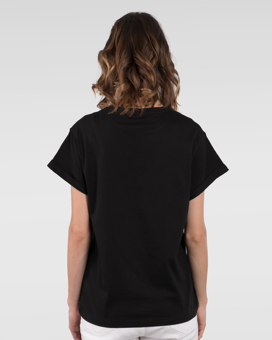 Shop Rose lady Boyfriend T-Shirt-Back