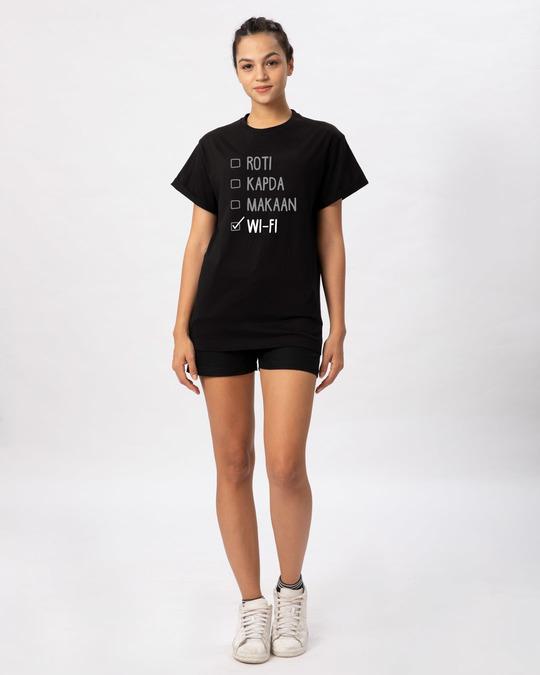Shop Roti Kapda Makaan Boyfriend T-Shirt