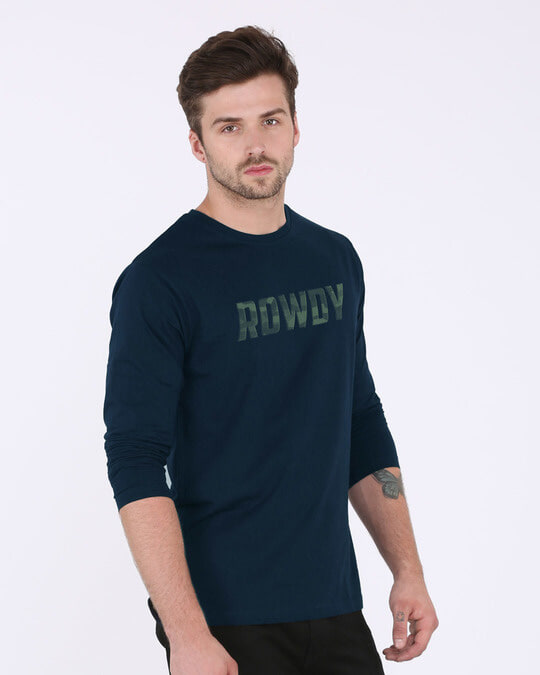 Shop Rowdy Full Sleeve T-Shirt-Back