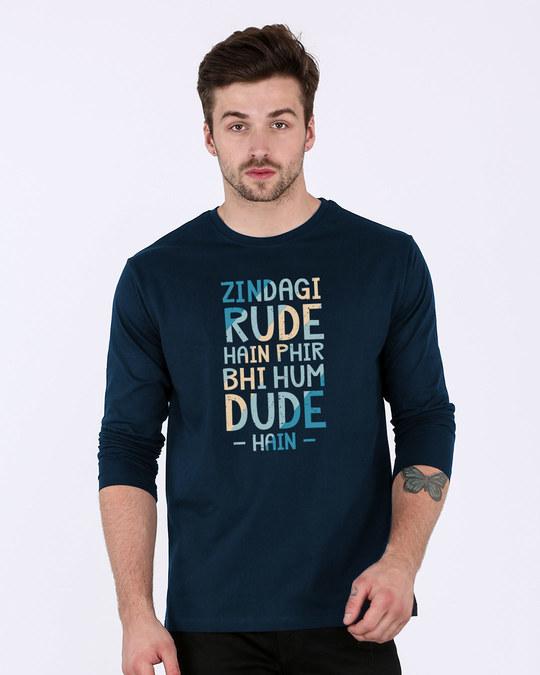 Shop Rude Dude Full Sleeve T-Shirt-Front