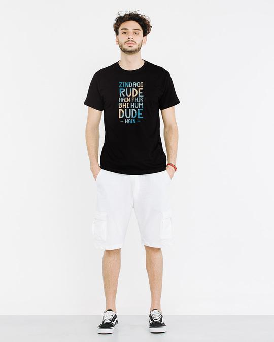 Shop Rude Dude Half Sleeve T-Shirt
