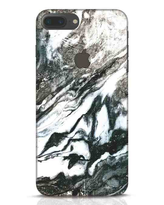Shop Rugged Marble iPhone 7 Plus Logo Cut Mobile Cover-Front