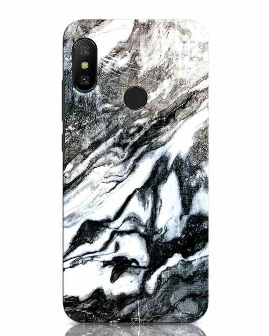 Shop Rugged Marble Xiaomi Redmi Note 6 Pro Mobile Cover-Front