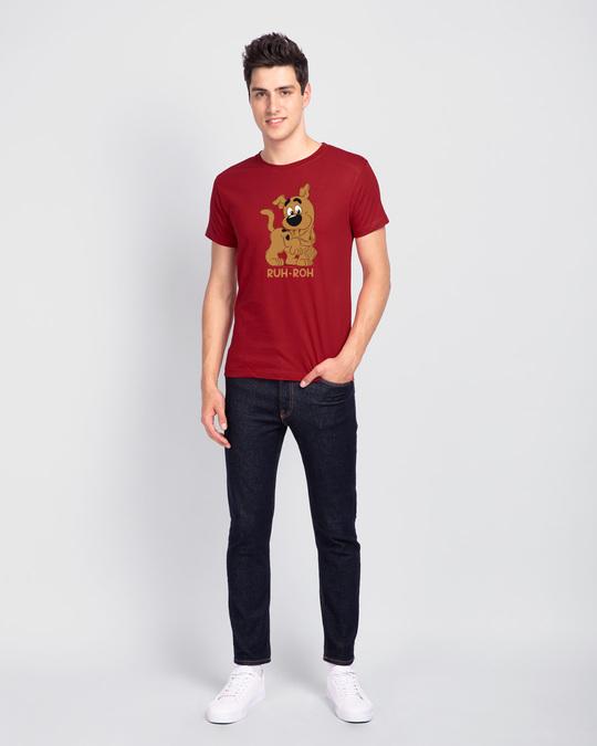 Shop Ruh Roh Scoob Half Sleeve T-Shirt Bold Red (SDL)-Full