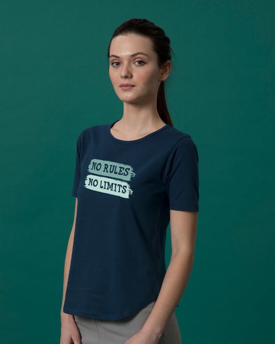 Shop Rules And Limits Basic Round Hem T-Shirt-Back