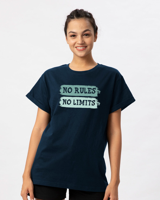 Shop Rules And Limits Boyfriend T-Shirt-Front