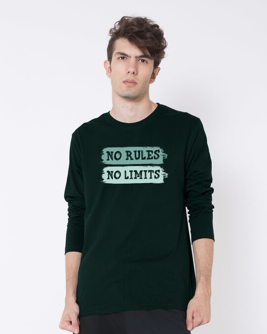 Shop Rules And Limits Full Sleeve T-Shirt-Front