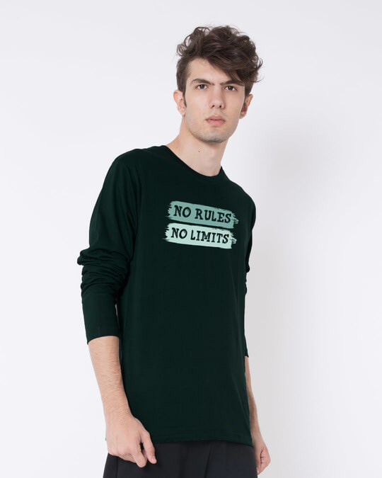 Shop Rules And Limits Full Sleeve T-Shirt-Back