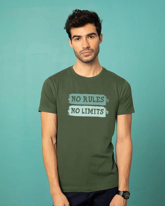 Shop Rules And Limits Half Sleeve T-Shirt-Back
