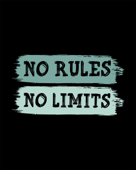 Shop Rules And Limits Round Neck 3/4th Sleeve T-Shirt