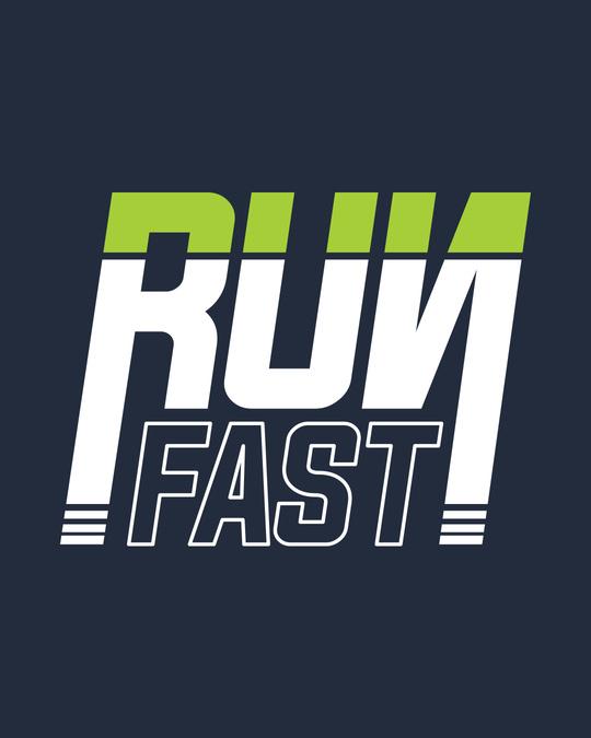 Shop Run Fast Crewneck Varsity Rib H/S T-Shirt-Multicolor