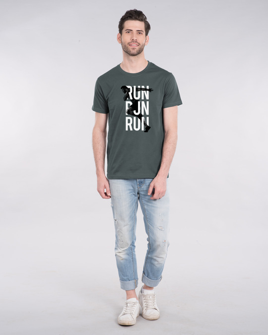 Shop Run Run Run Half Sleeve T-Shirt-Design