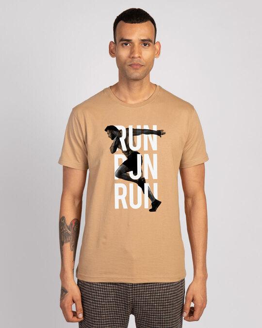 Shop Run Run Run Half Sleeve T-Shirt-Front