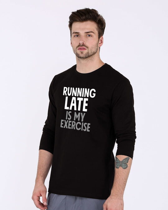 Shop Running Late Full Sleeve T-Shirt-Back