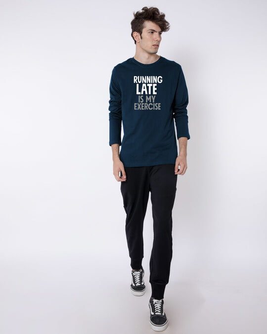 Shop Running Late Full Sleeve T-Shirt-Full