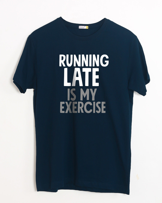 Shop Running Late Half Sleeve T-Shirt-Front