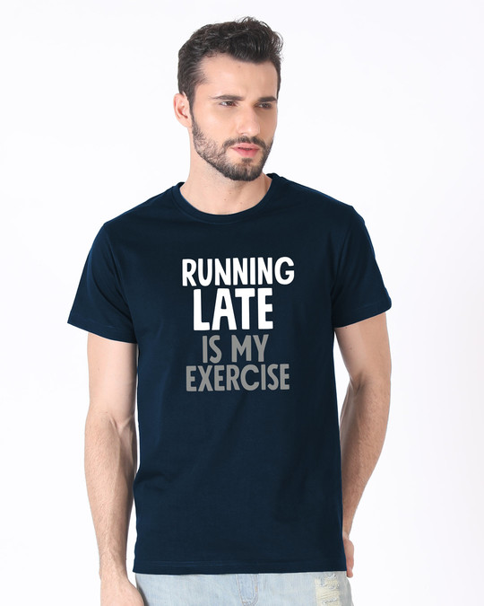 Shop Running Late Half Sleeve T-Shirt-Back