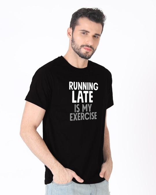 Shop Running Late Half Sleeve T-Shirt-Design