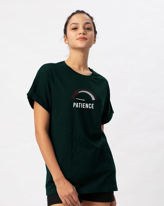 Shop Running Out Of Patience Boyfriend T-Shirt-Back