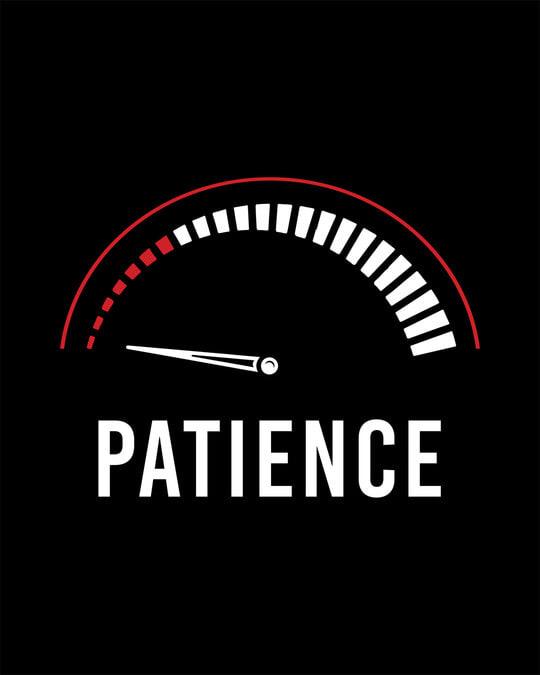 Shop Running Out Of Patience Boyfriend T-Shirt