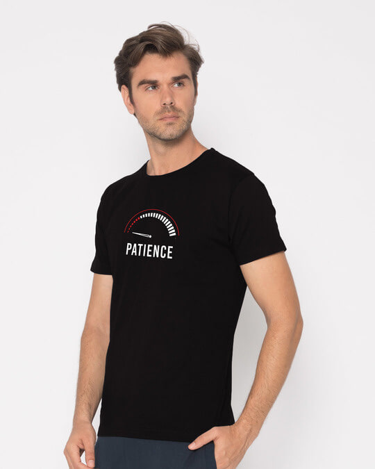 Shop Running Out Of Patience Half Sleeve T-Shirt-Design