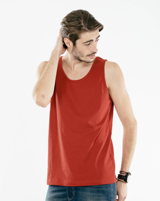 Shop Rust Orange Vest-Front