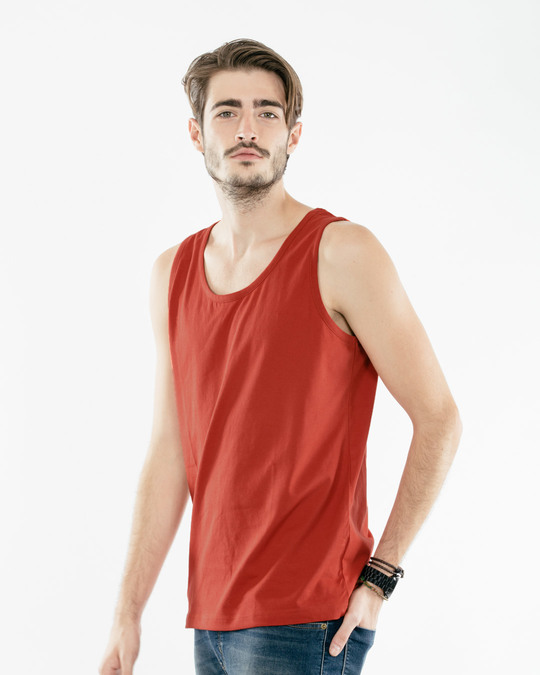 Shop Rust Orange Vest-Back