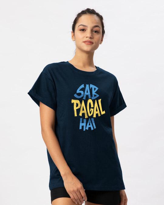 Shop Sab Pagal Hai Boyfriend T-Shirt-Back