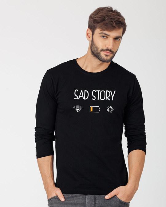 Shop Sad Story Full Sleeve T-Shirt-Front
