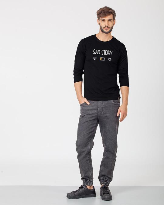 Shop Sad Story Full Sleeve T-Shirt-Design