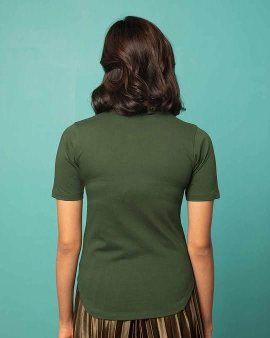 Shop Sada Ajeeb Raho Basic Round Hem T-Shirt-Back