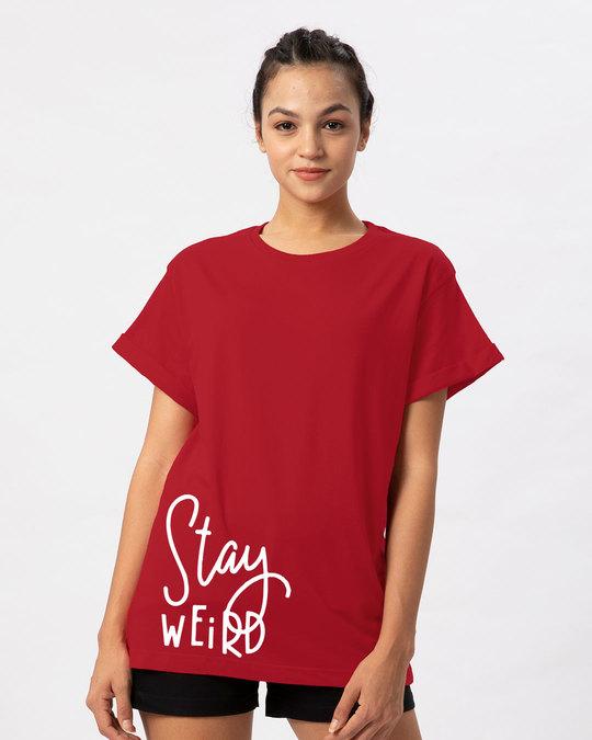 Shop Sada Ajeeb Raho Boyfriend T-Shirt-Front