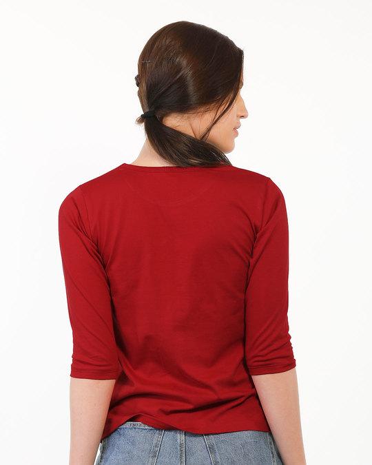 Shop Sada Ajeeb Raho Round Neck 3/4th Sleeve T-Shirt-Full