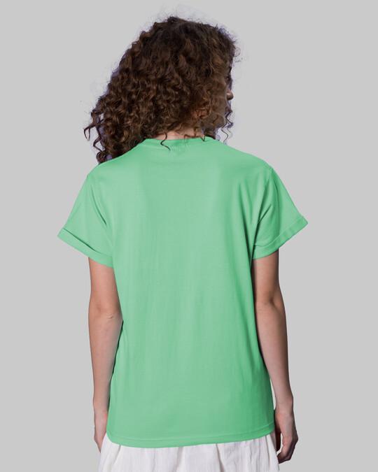 Shop Sadda Kutta Boyfriend T-Shirt Jade Green-Back