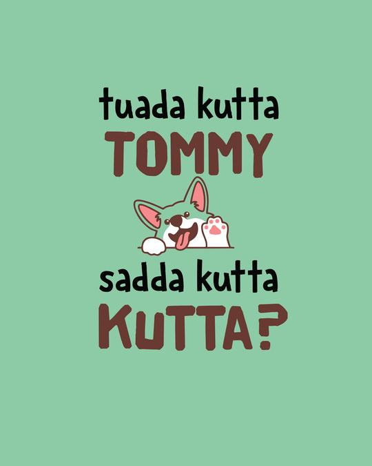 Shop Sadda Kutta Boyfriend T-Shirt Jade Green-Full