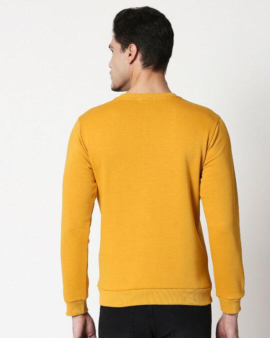 Shop Sadda Kutta Fleece Sweater Mustard Yellow-Back