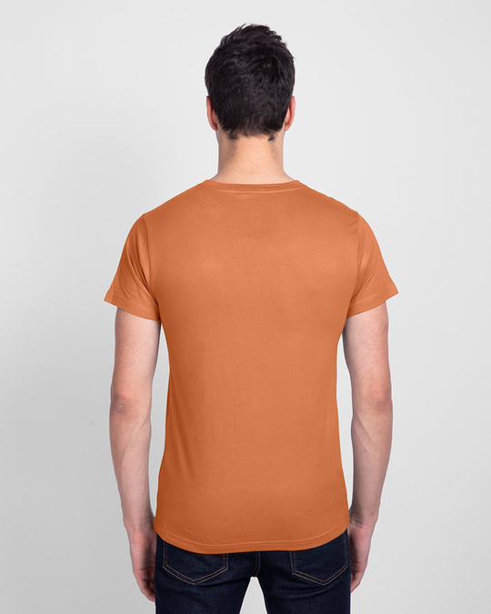 Shop Sadda Pain Half Sleeve T-Shirt Vintage Orange-Back