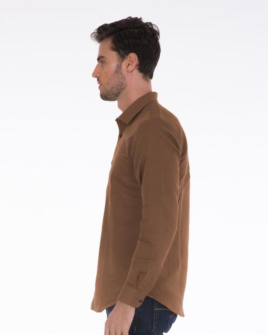 Shop Saddle Brown Slim Fit Shirt-Back