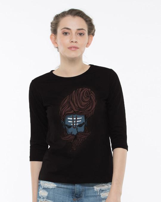 Shop Sadhu Baba Round Neck 3/4th Sleeve T-Shirt-Front