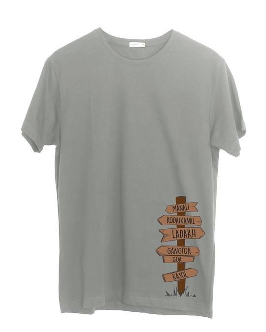 Shop Safarnama Half Sleeve T-Shirt-Front