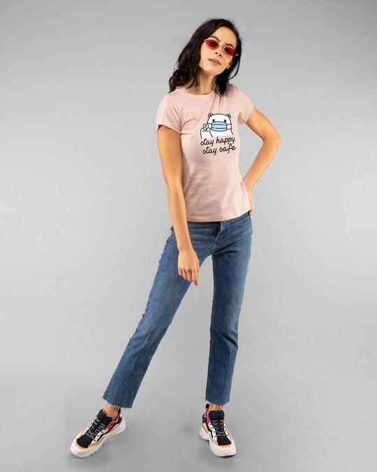 Shop Safe Bear Half Sleeve T-Shirt-Design